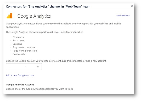 Integrating Google Analytics in Microsoft Teams