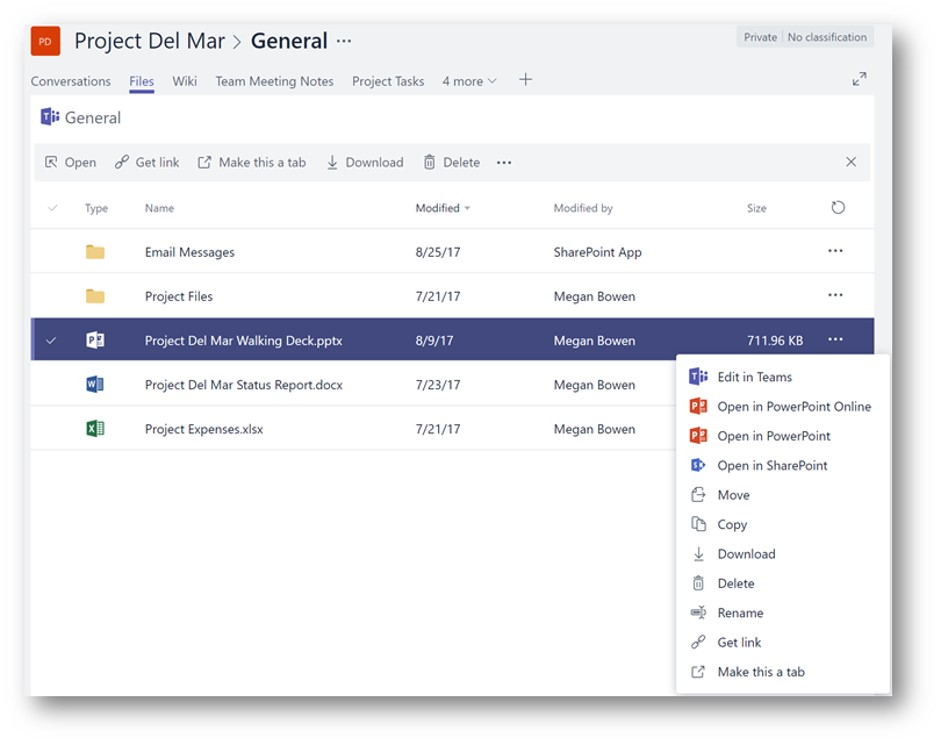 Tabs for SharePoint pages in Microsoft Teams